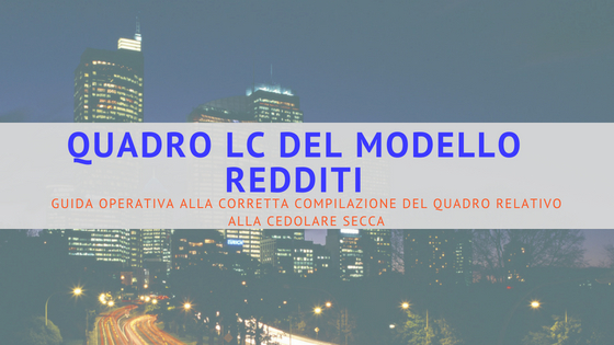 QUADRO LC MODELLO REDDITI