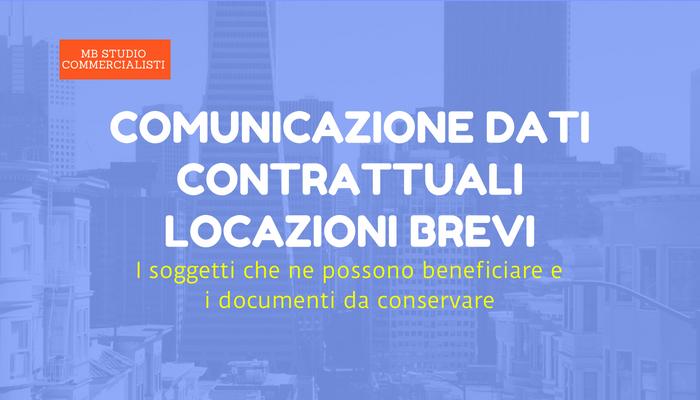 Comunicazione dati contrattuali locazioni brevi