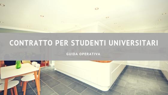 Contratto per studenti universitari - guida operativa