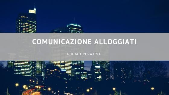 comunicazione alloggiati - guida operativa