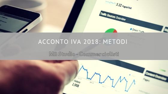 Modello Iva 2018: metodi